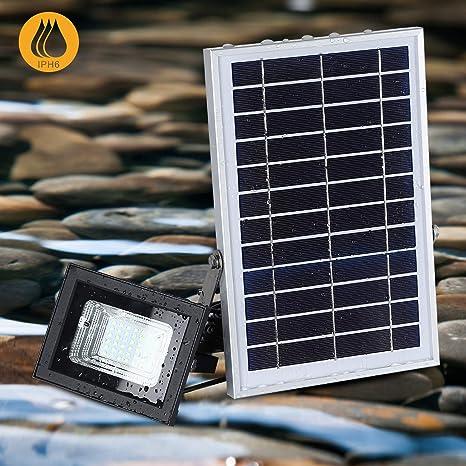 Luces Solares de Inundación con Paneles Solares de 19x 29cm 42 LED Impermeables para Iluminación Solar al Aire Libre para Garaje, Piscina, Calle, Señal, Billboard: Amazon.es: Iluminación