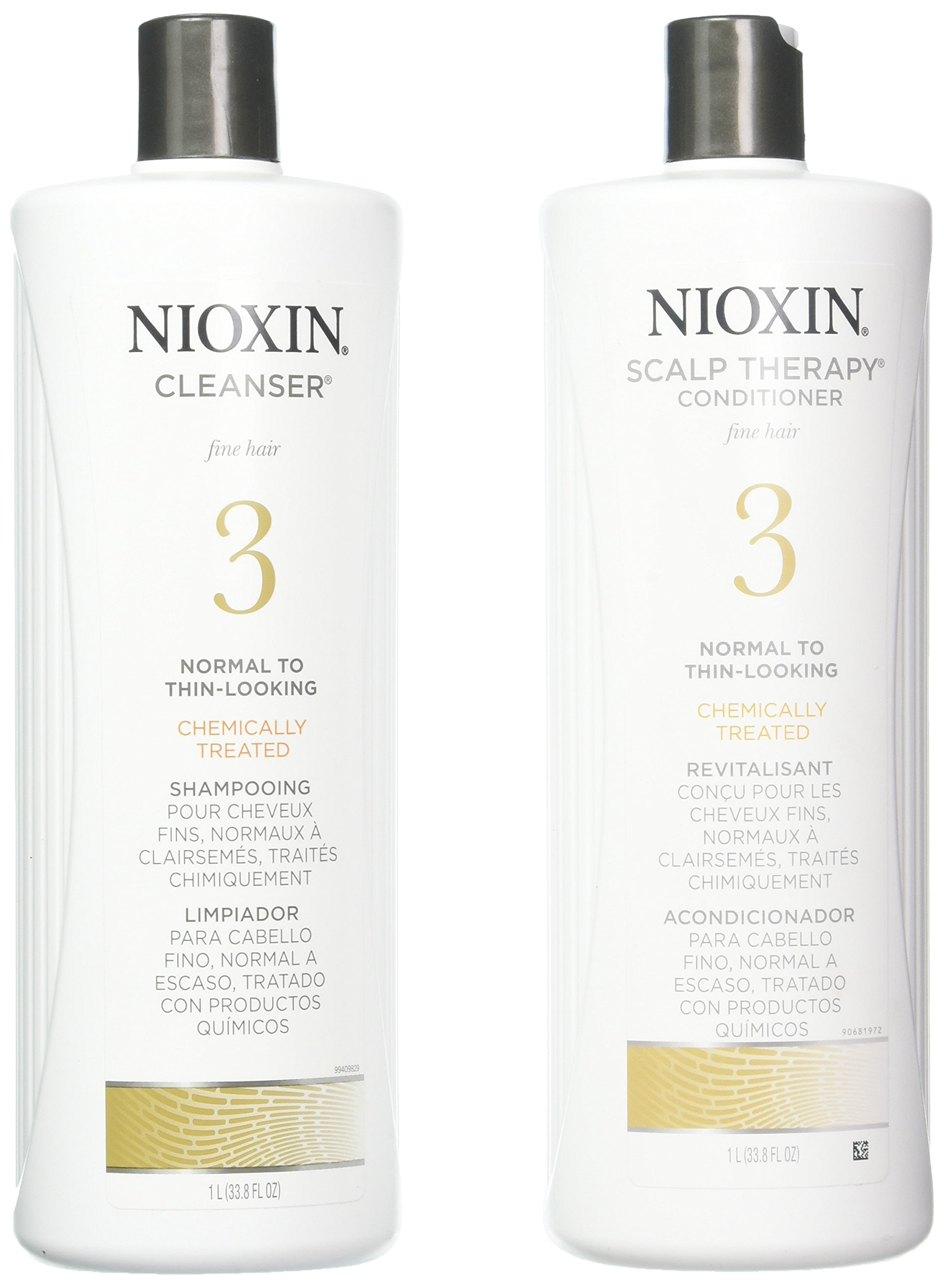 Amazon Com Nioxin Cleanser System 3 Fine Treated Normal