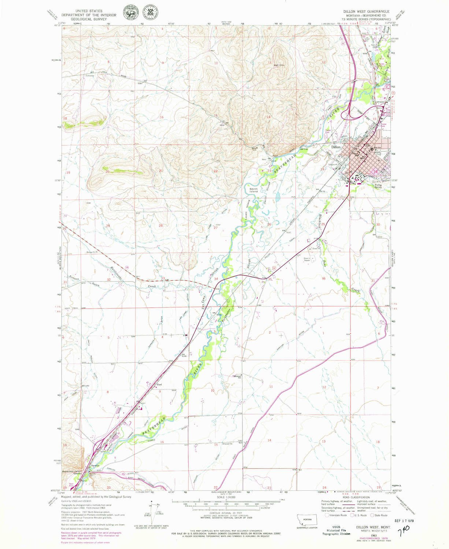 Amazon Com Yellowmaps Dillon West Mt Topo Map 1 24000 Scale 7 5 X
