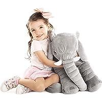 Uncle Kal Exclusivo Elefante de Peluche Gigante 63.5 cm | Diseñado en Suecia | Satisfacción Garantizada | Juguetes para Bebe, Niños y Niñas, Perfectos para Regalar |