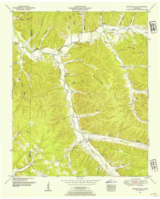 Amazon Com Yellowmaps Martins Mills Tn Topo Map 1 24000 Scale 7 5