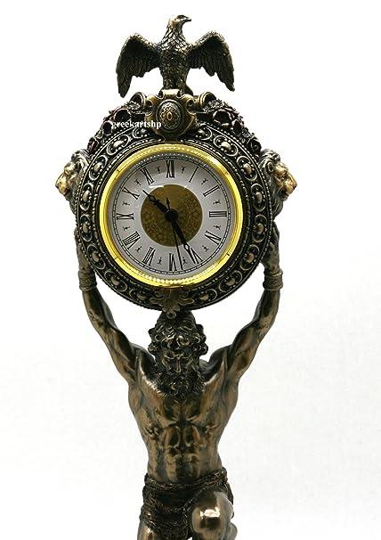 Veronese Atlas Titan Clock Decor Greek God Statue Sculpture