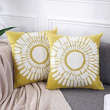 Amazon.com: AmHoo - Funda de cojín para sofá, 100% algodón ...