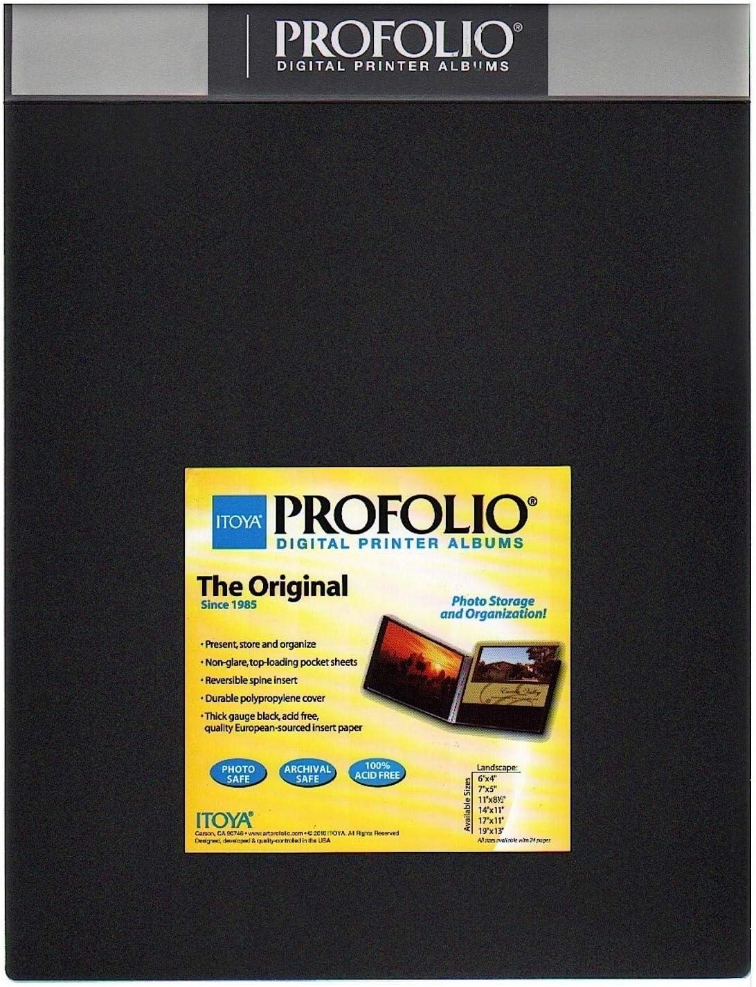 Itoya Original Art Profolio Storage//Display Book ID-241711 Landscape 17 X 11 inches Black