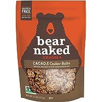 Bear Naked Cacao & Cashew Butter Granola - Gluten Free, Non-GMO, Kosher, Vegan - 11 Oz