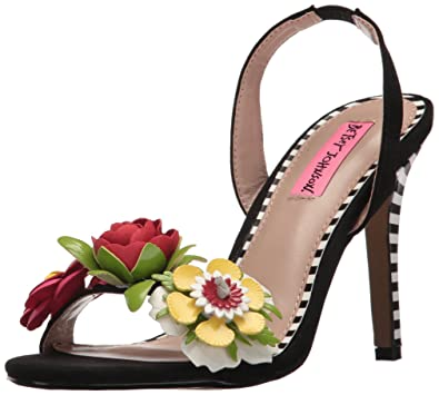 Betsey Johnson Womens Brena Open Toe Special Occasion BlackMulti Size 85 gIG