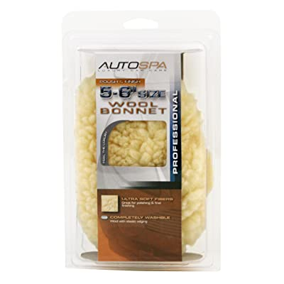 "AutoSpa 40403AS Soft Acrylic Wool 5-6"" Polishing Bonnet: Automotive"