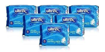 6 x Ultrex Ultra Plus con alas 8 toallas de compresa de alta absorción Ladies