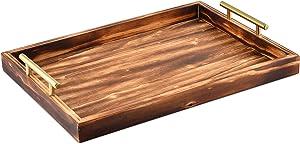 JANA Decorative Tray with Golden Handles | 18