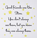 3dRose Good Friends Are Like Stars, Greeting Cards, Set of 6 (gc_193474_1)