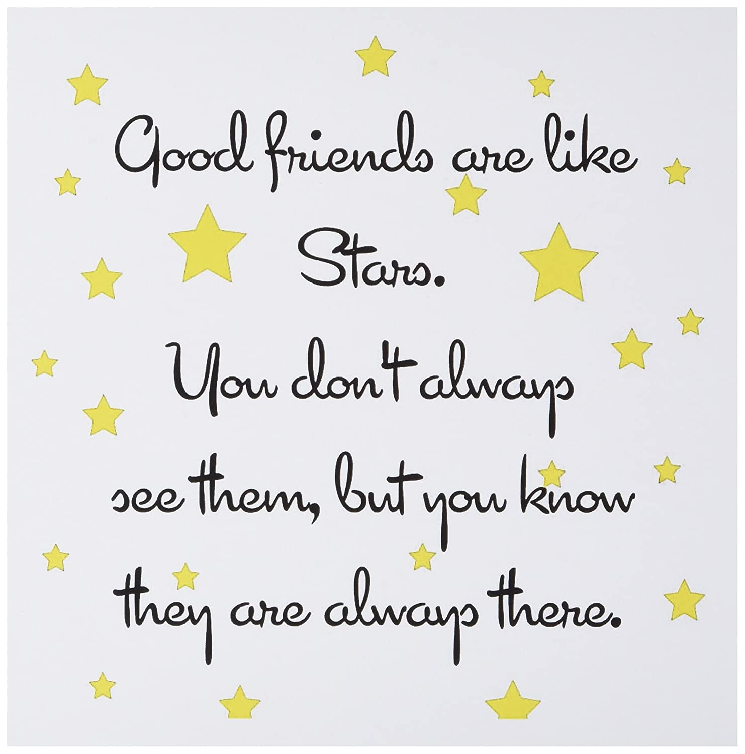 Amazon 3drose Good Friends Are Like Stars Greeting Cards Set
