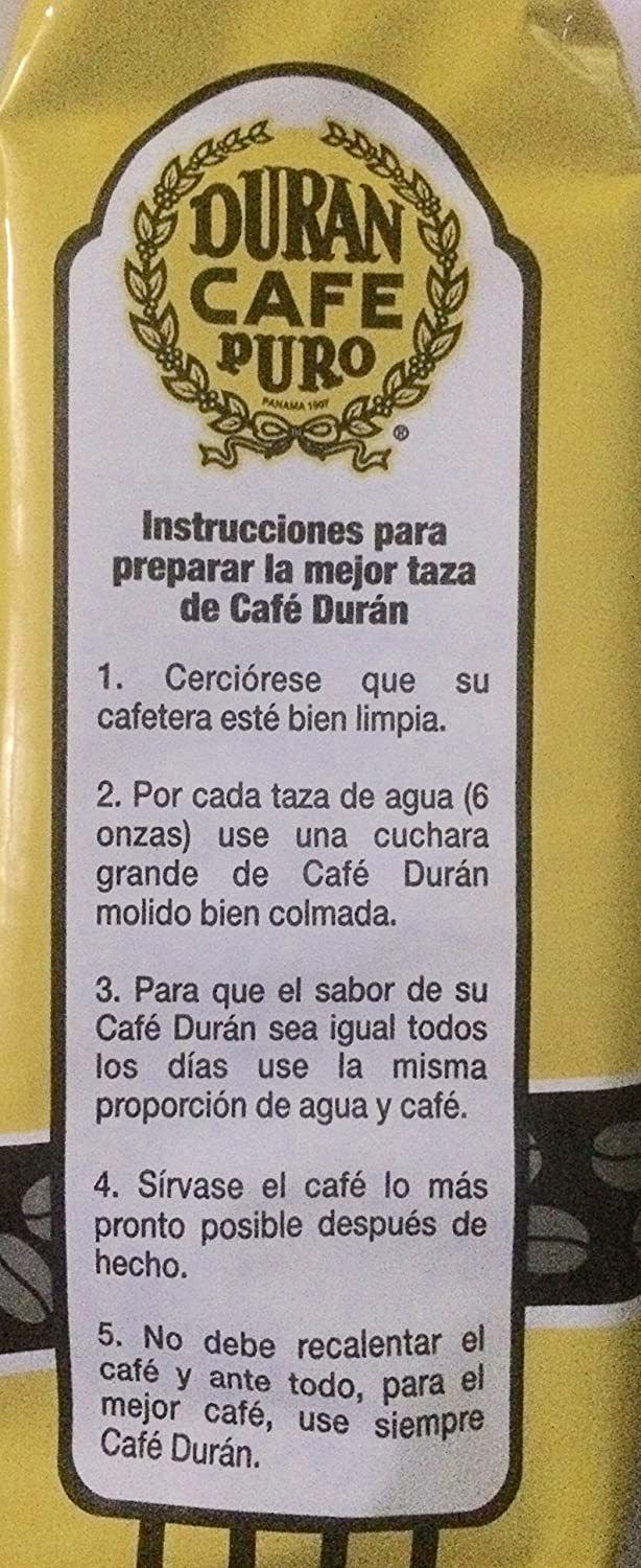 Amazon.com : Cafe Duran Cafe Tradicional Regular Ground 15 oz. 2-Pack Freshly Imported Coffee From the Highlands of Chiriqui (Boquete) (2 Pack) : Grocery ...
