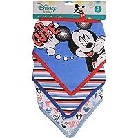 Disney Mickey Mouse 3 Piece Bandana Bibs, Blue Mickey I'm Cute Print