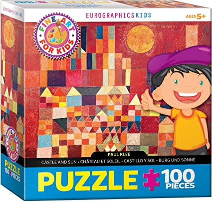 Amazon Com Eurographics Castle And Sun By Paul Klee 100 Piece