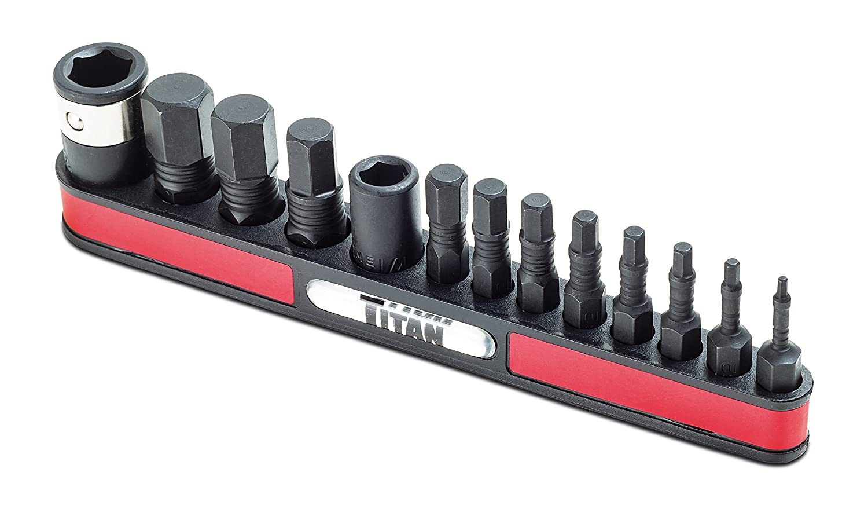 Titan Tools 16037 13-Piece SAE Impact Hex Bit Set