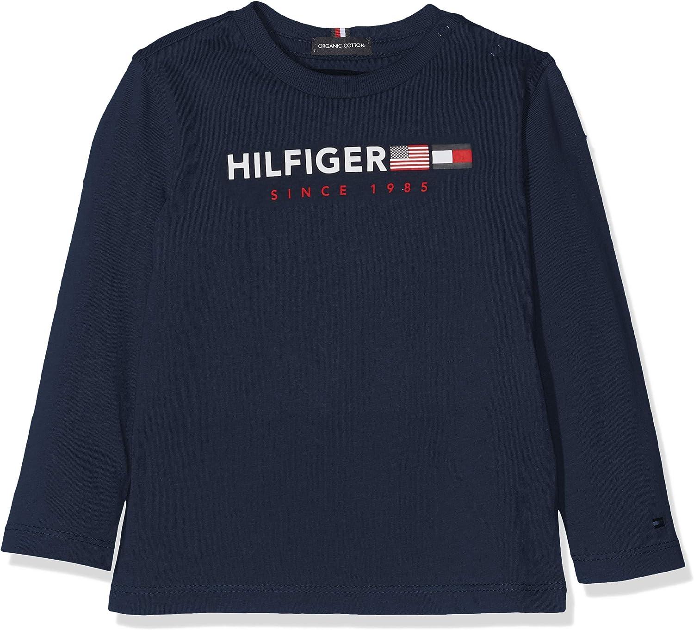 Tommy Hilfiger Flags Graphic tee L//S Camiseta para Beb/és
