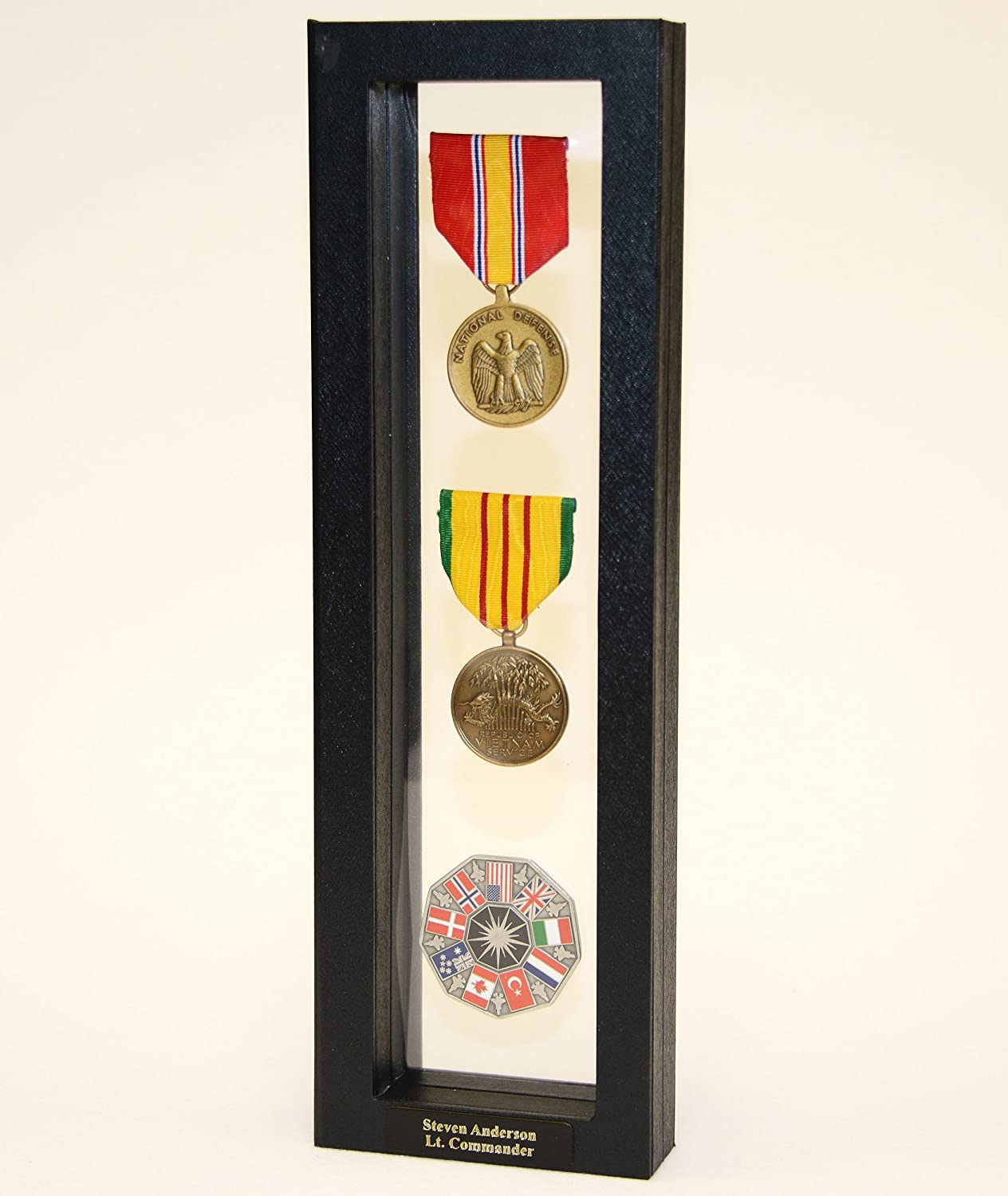 5 Challenge Coin / Casino Chip / Coins Display Case Box Frame Holder  Shadowbox