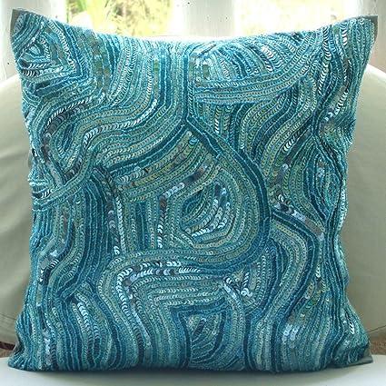knitbluethrowpillow knit pillow blue pillows throw