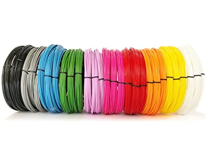 Pack PLA 10 colores diferentes1Kg (10x100g), 1.75mm filamento para ...