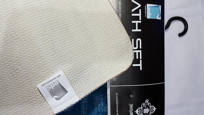 Lot de 2 tapis de bain antid/érapants Style grec bordeaux 13 couleurs Polypr/ène. 50x80