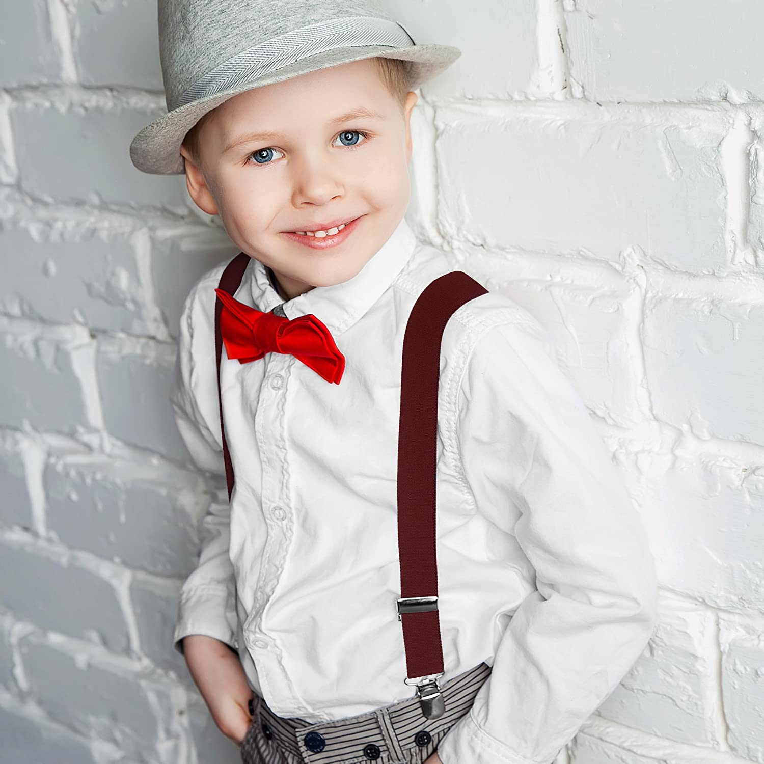 Rob Riverdale Tuxedo Suspenders for Kids Boys and Baby Elastic Fully Adjustable 126