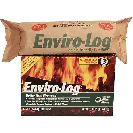 Amazon.com: enviro-log Tierra friendly Fuego Log, más limpio ...