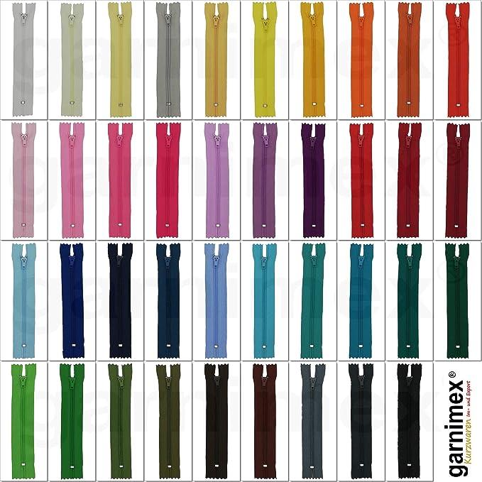 garnimex Cerniera 35 cm x 5 Pezzi Colore 05 Beige Assortiti Non divisibile