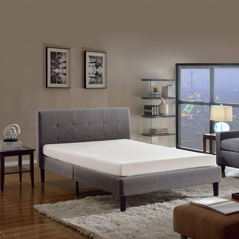 Swiss Ortho Sleep 6-Inch High-Density 2x Layered King Memory Foam Mattress with Bamboo Cover