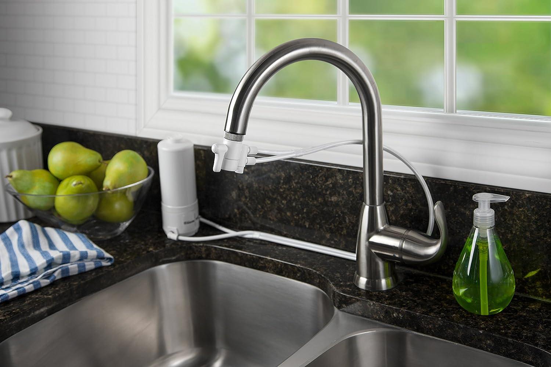 Home Master HM-Mini-Plus Sinktop Faucet Filter, White - - Amazon.com