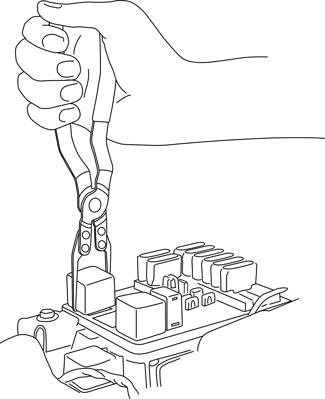 amazon com lisle 46950 relay puller pliers automotive
