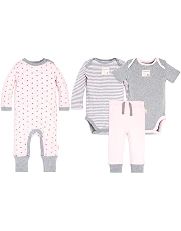 e5324911 Burt's Bees Baby Unisex Baby 100% Organic Cotton Coverall, Bodysuits and  Pant Set