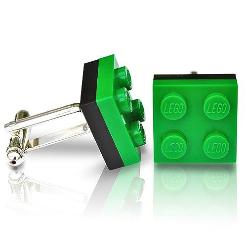 SJP Cufflinks LEGO® Teller mit (schwarz und grün) Geschenk