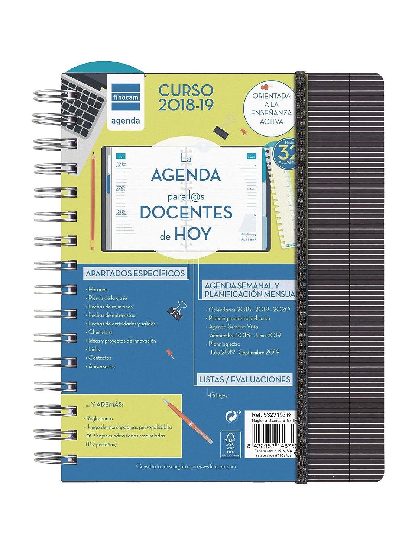 Finocam Magistral Docente - Agenda 2018-2019 semana vista apaisada español, 155 x 215 mm, standard