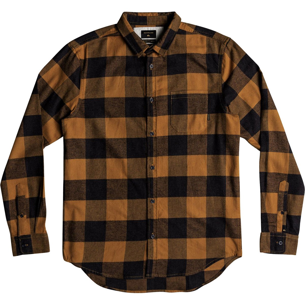 Quiksilver Men's Motherfly Button Down Flannel Shirt, Rubber Motherfly Check, XL