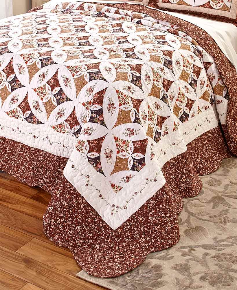 The Lakeside Collection Oversized King Georgia Quilt - Spice