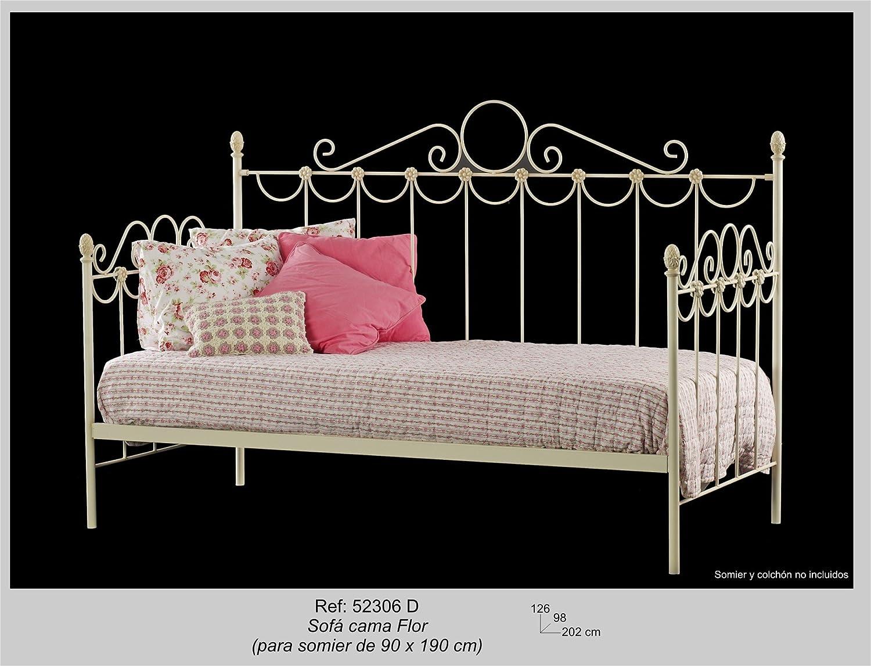 Art-Domus - 52306 - Sofa Cama Flor. Colchón Y Somier No ...