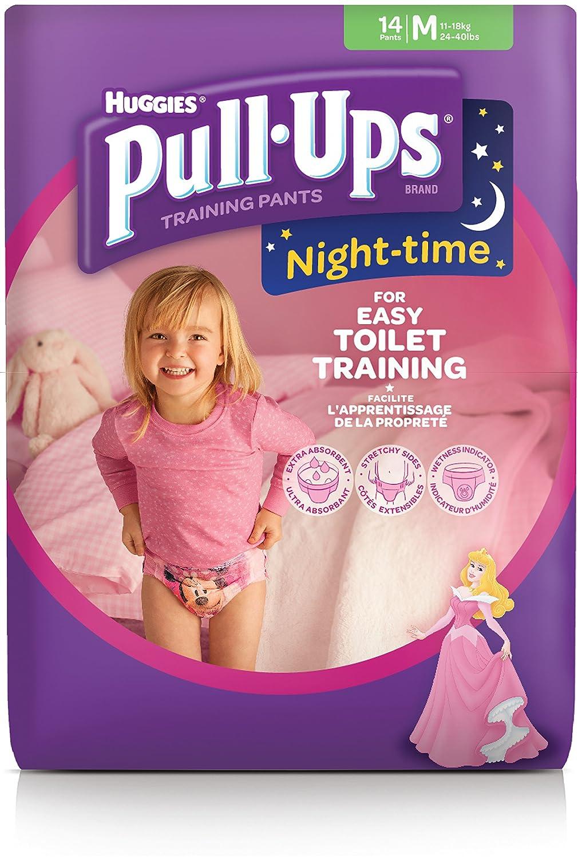 48 Unit/és L Huggies Pull-Ups Couches Culottes dapprentissage pour la nuit pour les filles