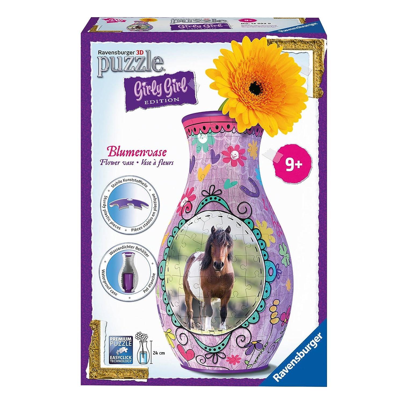 Ravensburger 12052 3D-Puzzle Girly Girl Edition Blumenvase Pferde Ravensburger Spielverlag 120529 Frühe Kindheit Frühkindliche Bildung