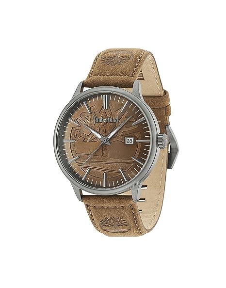 Timberland Reloj Análogo clásico para Hombre de Cuarzo con Correa en Cuero 15260JSU/12: Amazon.es: Relojes