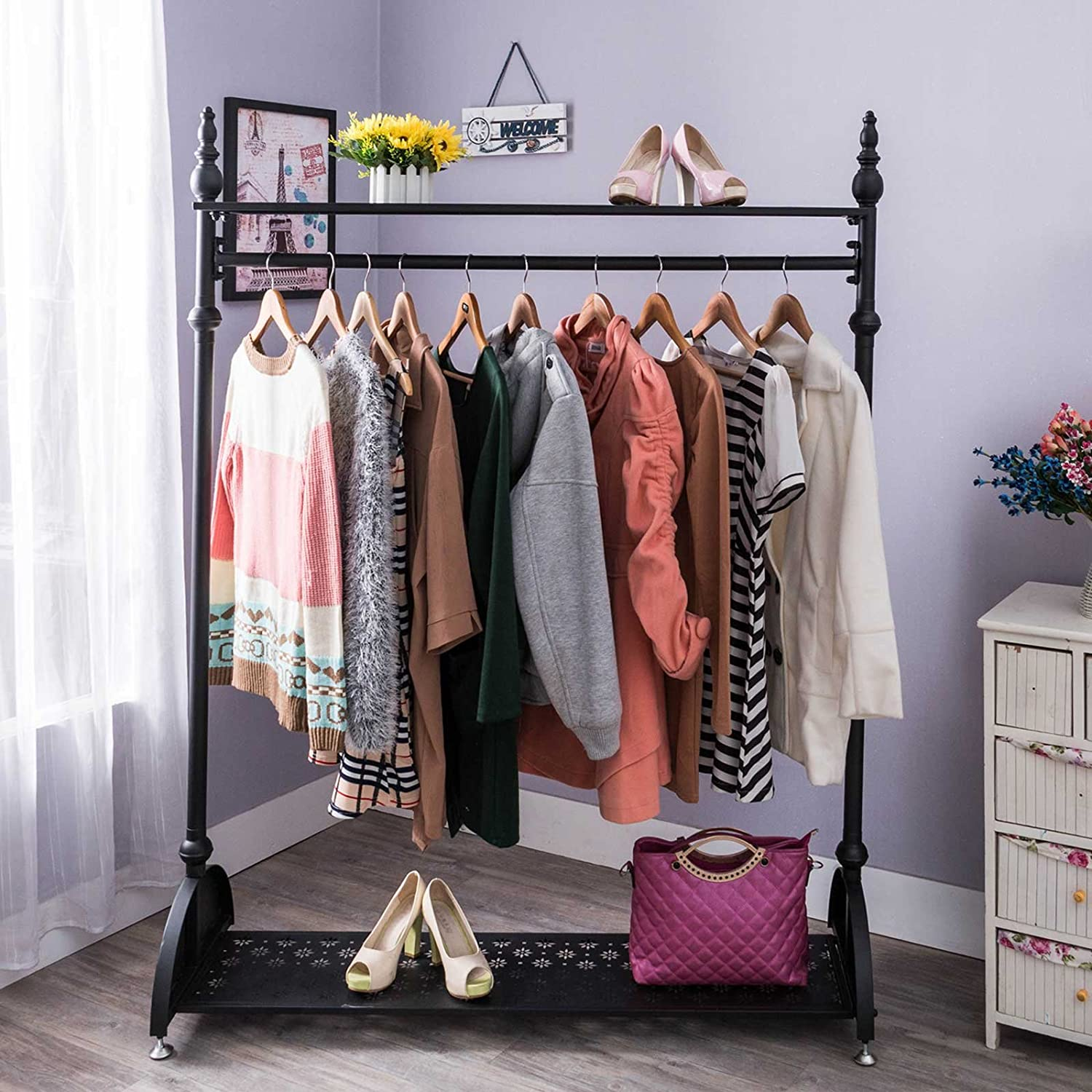 four compact seen ikea rack offering corner stained in most portable model system closet white clothes shoes frames easy storage for organizing shelves racks wooden and with fascinating featured fabulous pax hanging furniture home ideas also wardrobe design featuring bags open shelf
