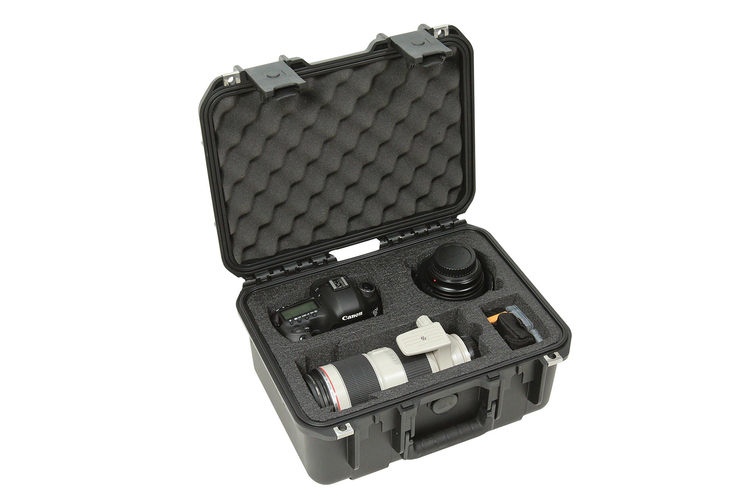 SKB Cases 3I-13096SLR2 SKB iSeries Camera Cases for DSLR with DSLR Body Pocket, Lens Pockets and Accessories (Black)
