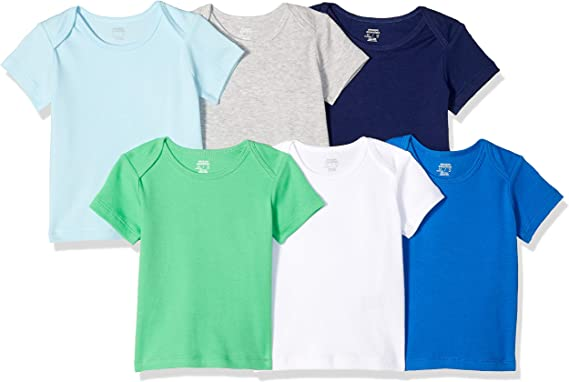 Essentials Boys 6-Pack Lap-Shoulder Tee