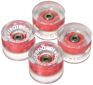 Ridge Skateboard Ruedas de Patinete, Unisex Adulto, Rojo, 70 mm