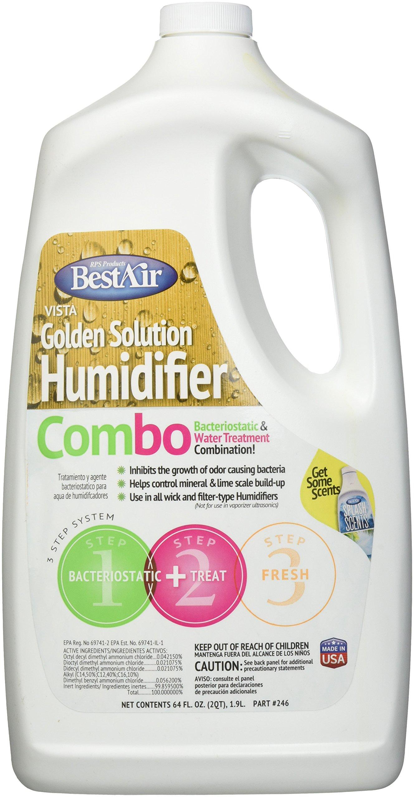 BestAir 246, Golden Solutions Water Treatment, 64 oz, 6 pack