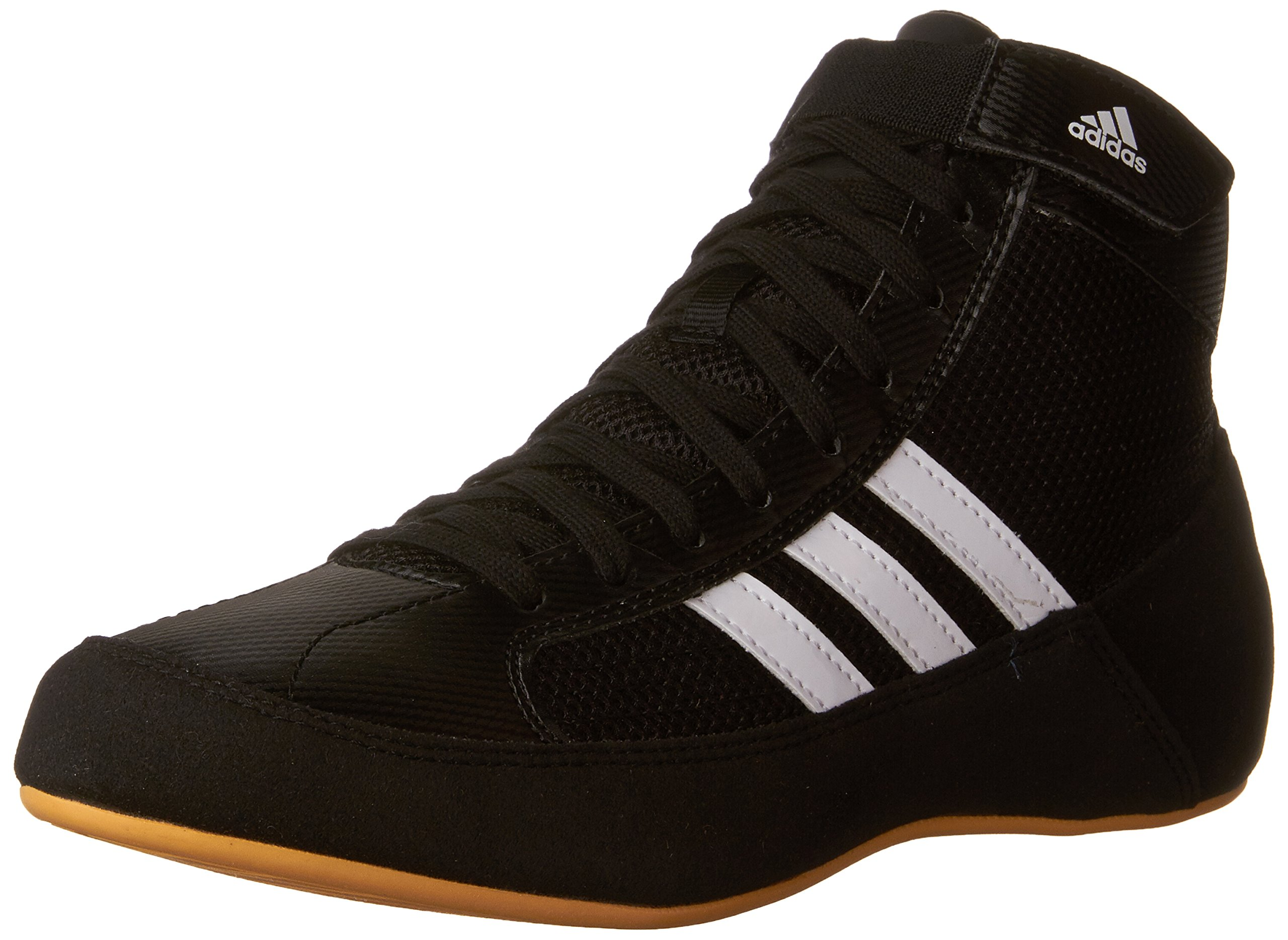 adidas Wrestling HVC Youth Laced Wrestling Shoe (Toddler/Little Kid/Big Kid),Black/White/Gum,10 M US Toddler