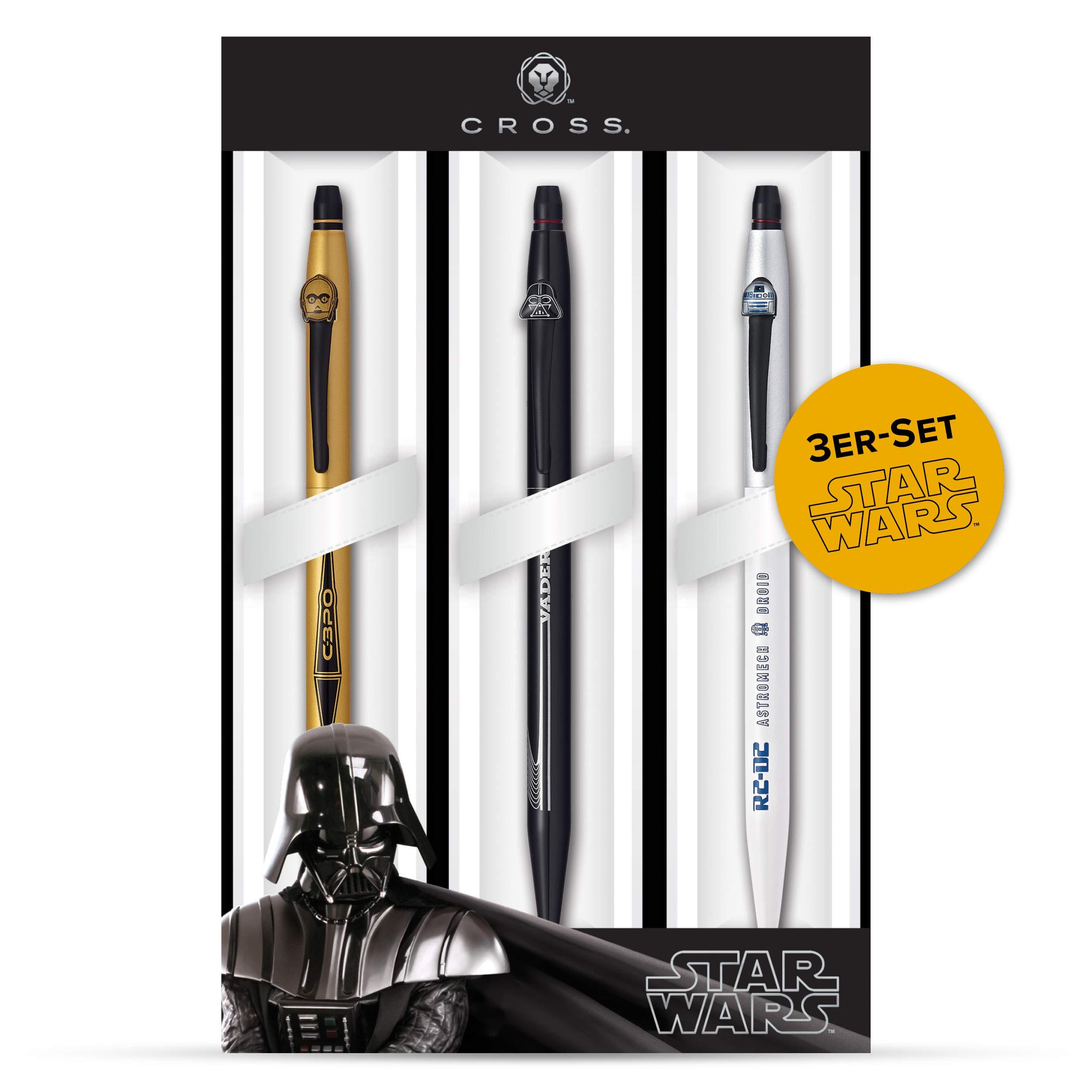 Cross Click Star Wars 3-Pack Gel Ink Pens - Darth Vader, C-3PO, R2-D2 (9857M3) by Cross