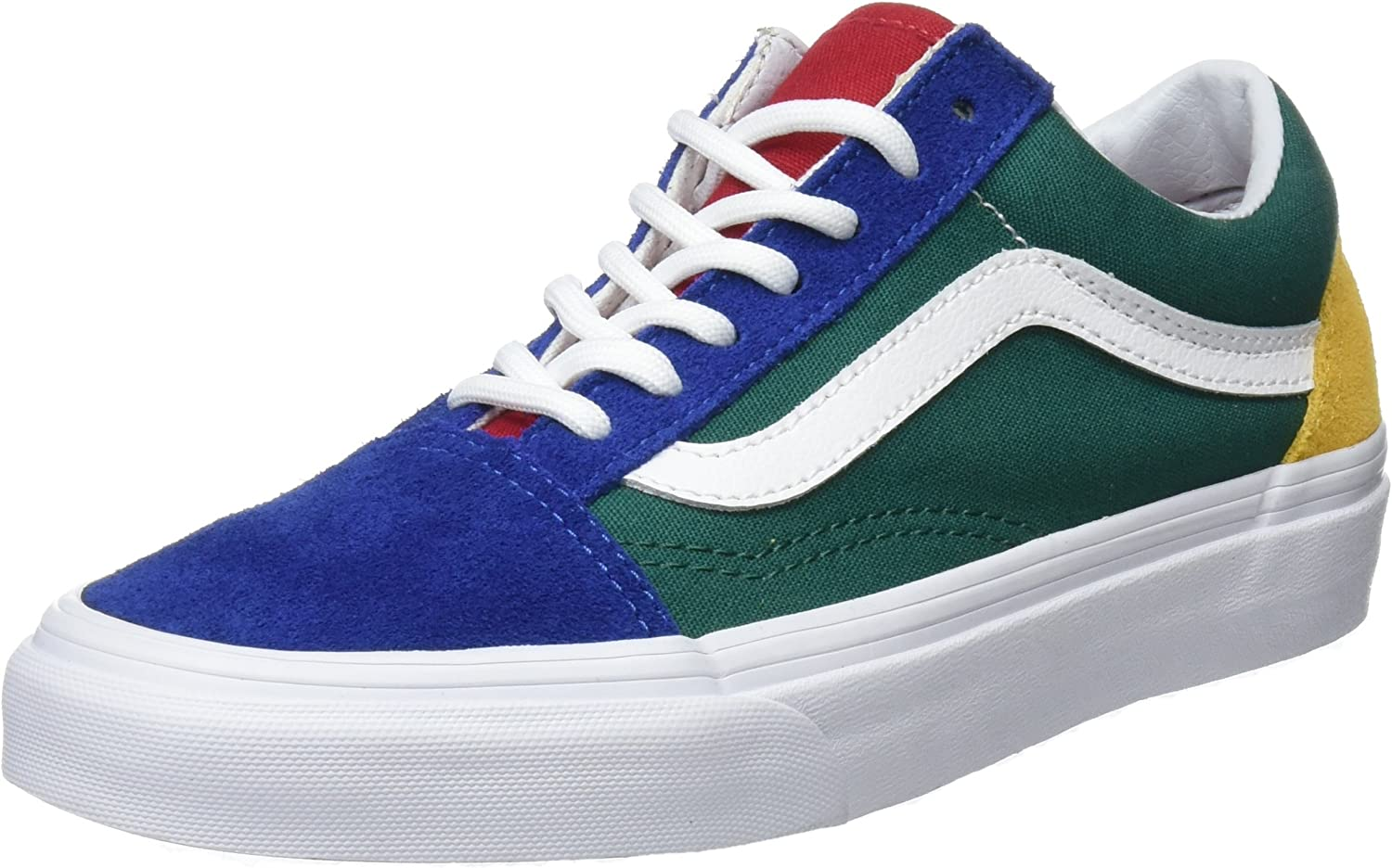 Vans Unisex Adults Old Skool Trainers, Multicolour Vans Blue Yacht Club Blue Green Yellow R1Q , 4.5 UK 37 EU