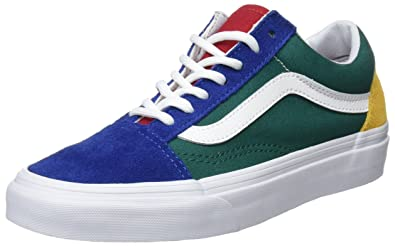 f2f919a80e1 Vans Unisex Adults' Old Skool Trainers, Multicolour ((Vans Blue Yacht Club)  Blue/Green/Yellow R1Q), 4.5 UK 37 EU