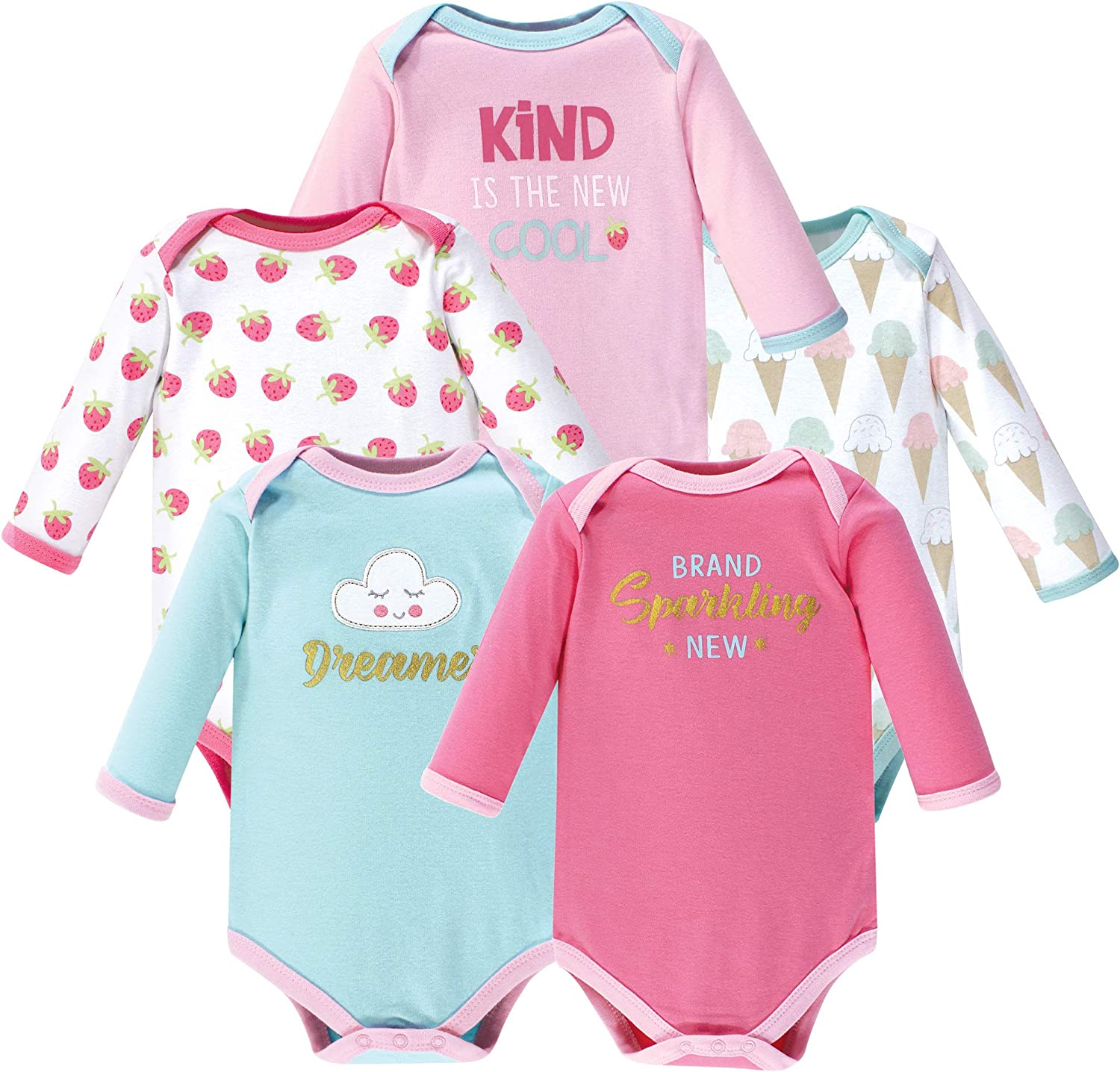 Luvable Friends Unisex-Baby Long Sleeve Bodysuits T-Shirt Set