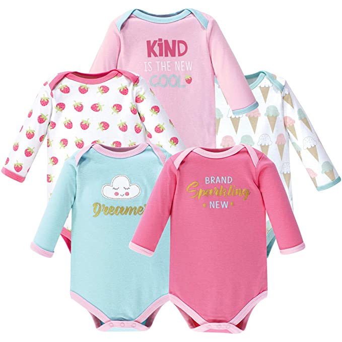 c2a56e69b Amazon.com  Luvable Friends Baby Long Sleeve Bodysuits